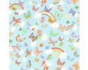 Princess's Tea Party - Butterfly Princess Pale Blue Background